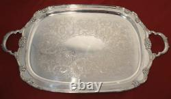 1847 Rogers Bros REMEMBRANCE International Tea Set Tray 1948 Silver Plate