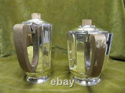 1930 art deco french SILVERPLATE tea coffee set & tea tray (5pces)
