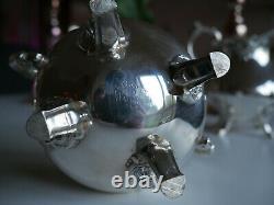 3 Wallace Baroque Silver Tea Accessories Creamer Sugar Bin