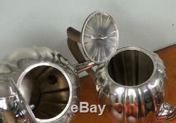 4 PC Windsor Castle Silverplate Tea Set Teapot Coffee Pot Reed & Barton