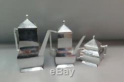 4 Pc. Antique/Vintage Art Deco Swiss Made Silverplate Coffee/Tea Service Set