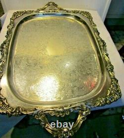 5Pc Silver plate Tea Set Baroque Wallace, Hollowware, 281-284 with Tray