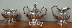5 PC Reed & Barton VICTORIAN Silverplate Tea Set Teapot Coffee Pot Sugar Creamer