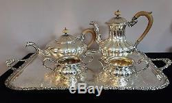 5 Pc Antique Birks Regency Sheffield Silver Plate Tea / Coffee Service