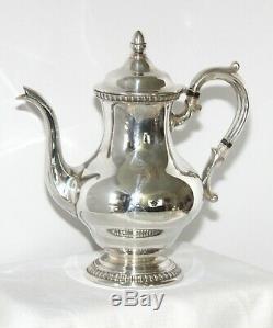 5 Pc Vintage Reed & Barton Silverplate Coffee/tea Set