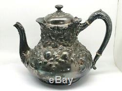 5 Piece Reed & Barton 3517 Silverplate Tea Set