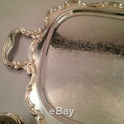 5 Piece Silver Plated Tea Set w Tray Gorham Newport