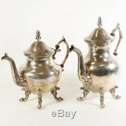 5-Piece Vintage Silver on Copper Tea Set by Birmingham Silver Co. BSC
