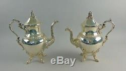 5pc Goldfeder Silver plated Coffee/Tea Service with 31 Footed Gallery Tray