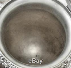 6Pc Atq BIRMINGHAM Grapes Slv Plate Coffee & Tea, Cream, Sugar, Caddy + Waste