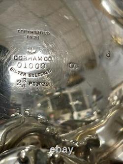 6 pcs Gorham 1891 antique silver plated #01000 tea service