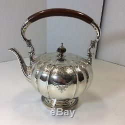 6 piece Reed & Barton EP Silver Windsor Castle Tea & Coffee Set & unmatched tray