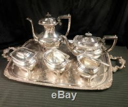 7Pc Coffee & Tea Set withTray E G Webster & Son Circa 1925 Silverplate