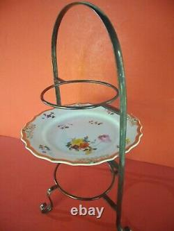 ANTIQUE SILVER PLATE 3 TIER CAKE STAND for afternoon tea, nice made in England