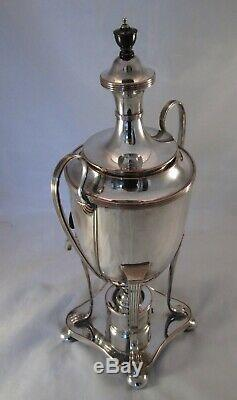 A Fine 19th Century Silver Plated Tea Urn / Samovar Patented Burner