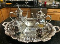 Antique 30 year- Never Used-Vintage Towle Silver Plated 5 Piece Coffee/Tea Set