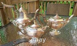 Antique 5 Pc Silver Plate Tea Set Coffee Service Set By Gorham Circa 1916