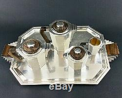 Antique Art Deco Silver Plated Tea Coffee Set French Christofle