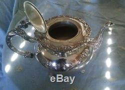 Antique Ascot Community Sheffield Design Silver plate Coffee/Tea Set