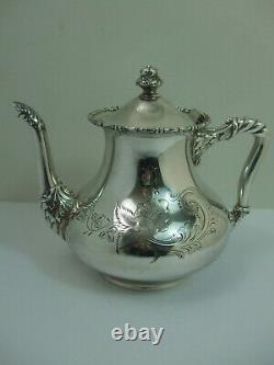 Antique Barbour Silver Co Coffee Tea 4pc Set Quadruple Silver Plate Pat #2420