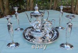 Antique Community Grosvenor Silver Plated Tea/Coffee Set