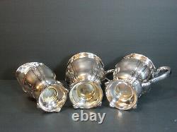 Antique E. G. Webster & Son Ornate Repousse Silverplate 4 PC Tea/Coffee Set Rare