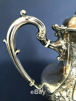 Antique Edwardian Reed & Barton silverplated coffee / tea pot #3708 c. 1902
