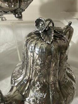 Antique English Silverplate James Deakin & Sons JD&S Tea set coffee pot sugar bo