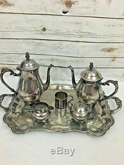 Antique FB Rogers Silverplate Tea & Coffee Service 8 Piece Service Set