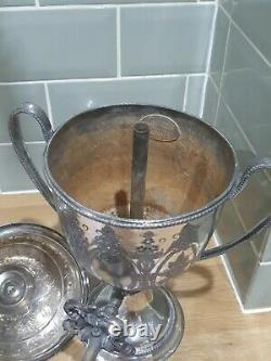 Antique Fisher & Shaw Sheffield Silver Plate Coffee Tea water Urn Working