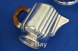 Antique French Art Deco Silver Plate Tea set Teapot Milk Jug Sugar Coffee Pot