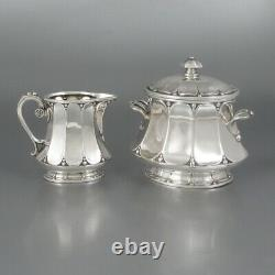 Antique French Christofle Gallia Silver Plate, Tea Coffee Service, Art Nouveau