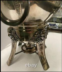 Antique Gorham Silver Plate Samovar Hot Water Coffee Tea Urn w Burner