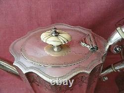 Antique Heavy Silver Plated 4 Piece Tea Coffee Set 21 cm
