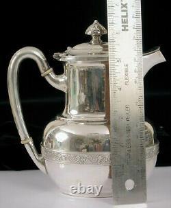 Antique Pat 1875 Tiffany & Co Beautiful Silver Soldered Demitasse Tea Pot Coffee