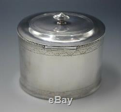 Antique Sheffield England Lockable Large Tea Caddy Silver Plated