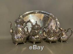 Antique Silver Plated Tea Set Württembergische Metallwarenfabrik (wmf) Germany