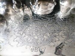 Antique Silver Soldered Tea Set Coffee Service Georgian Court With Tray 6 Piece
