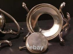 Antique Silver Tilting Coffee Kettle Tea Pot Hot Water Samovar Art Nouveau Stand