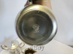 Antique Silver plated Webster Tea set Teaset Teapot sugar creamer 4 pieces