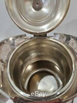 Antique Simpson Hall Miller Quadruple Silver Plate Tea Pot with Stand