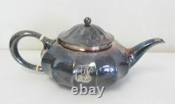 Antique Tiffany & Co Silver Soldered Melon Form Coffee Tea Set Free Shipping