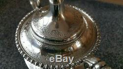 Antique Victorian 18th/19th Cen Birmingham Silver Plate Coffee Tea Urn / Samovar