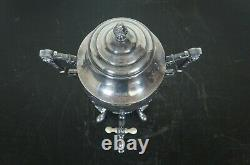 Antique Victorian Rogers Smith Repousse Silver Plate Tea Coffee Urn Samovar 16
