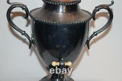 Antique Victorian Silver Metal Water Coffee Tea Dispenser Large Trophy Shape