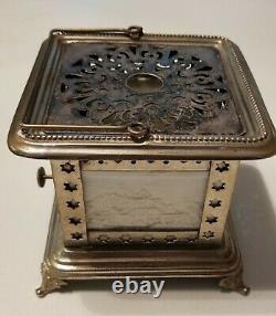 Antique Victorian lithophane tea/food with oil lamp circa 1860