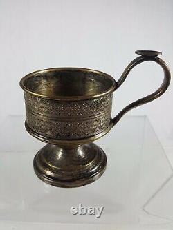 Antique Warsaw Poland Silver plate Tea Glass Holder(5)