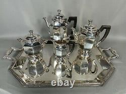 Antique silver-plated tea set from 19th century Christofle FREE SHIPPING