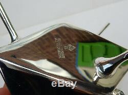 Art Deco Silver Christopher Dresser Diament Tea Pot Ebonised Wood Architectural