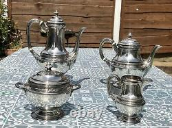 Art nouveau christofle gallia silver tea set coffe set